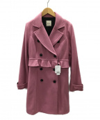 EATME(イートミー)の古着「メルトンデザインPコート」 ダークピンク
