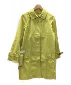 Traditional Weatherwear(トラディショナル ウェザーウェア)の古着「ステンカラーコート」|イエロー
