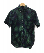 COMME des GARCONS JUNYA WATANABE MAN(コムデギャルソン ジュンヤワタナベマン)の古着「半袖シャツ」 ネイビー×グリーン