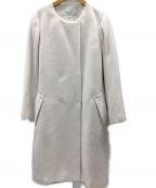 HARYU(ハリュ)の古着「ノーカラーコート」 ホワイト