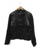 BEAMS(ビームス)の古着「ラムレザージャケット」 ブラック