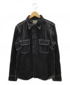 PHERROWS(フェローズ)の古着「デニムシャツ」|ブラック