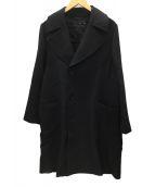 KNOTT(ノット)の古着「ウールダブルフェイストレンチコート」|ブラック