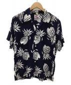 DUKE KAHANAMOKU(デューク カハナモク)の古着「ハワイアンシャツ」|ネイビー