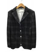 Whim Gazette(ウィムガゼット)の古着「テーラードジャケット」|ブラック×グレー