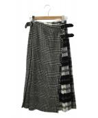 O'NEIL OF DUBLIN(オニール オブ ダブリン)の古着「スカート」|ブラック×グレー