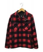 X-girl(エックスガール)の古着「ウールジャケット」|レッド×ブラック