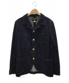 ORGUEIL(オルゲイユ)の古着「ネップデニム サックジャケット」|インディゴ