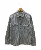 Joe McCOY(ジョーマッコイ)の古着「シャツ」|ホワイト×ネイビー