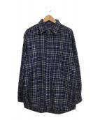 ()の古着「ウールシャツ」 ブルー