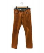 DRIES VAN NOTEN(ドリスバンノッテン)の古着「ジーンズ」|オレンジ