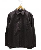 MOMOTARO JEANS(桃太郎ジーンズ)の古着「コットンロゴシャツ」 バイオレット