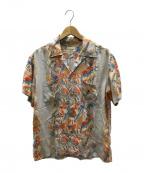 FLAT HEAD(フラット ヘッド)の古着「アロハシャツ」 ベージュ
