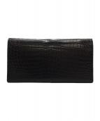 ワニマット(ワニマット)の古着「長財布」|ブラック
