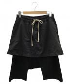 RICK OWENS(リックオウエンス)の古着「サルエルパンツ」|ブラック