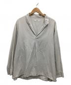 MARKA(マーカ)の古着「スキッパーシャツ」|ライトグレー