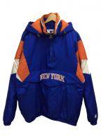 STARTER(スターター)の古着「1/4ジップジャケット」 ブルー×オレンジ