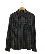 RUDE GALLERY(ルードギャラリー)の古着「ウエスタンシャツ」 ブラック×グレー