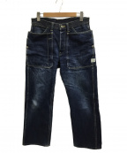 SASSAFRAS(ササフラス)の古着「Fall Leaf Gardener Pants」 インディゴ
