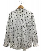 ()の古着「シャツ」|ホワイト×ネイビー