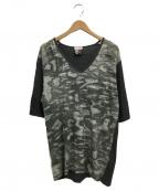 FACETASM(ファセッタズム)の古着「VネックTシャツ」 グレー