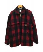 ()の古着「ウールジャケット」 レッド×ブラック