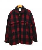 CarHartt(カーハート)の古着「ウールジャケット」|レッド×ブラック