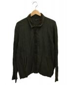 ()の古着「オープンカラーシャツ」 グリーン