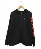 New Era(ニューエラ)の古着「クロスウェアジャケット」|ブラック×ネオンレッド