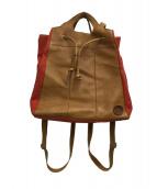 ()の古着「3WAYバッグ」 ブラウン×レッド