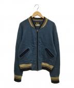 STYLE EYES(スタイルアイズ)の古着「ニットジャケット」|スカイブルー