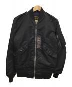 ()の古着「フライトジャケットL-2B」 ブラック