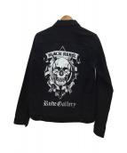 RUDE GALLERY BLACK REBEL(ルードギャラリーブラックレーベル)の古着「ワークジャケット」 ブラック
