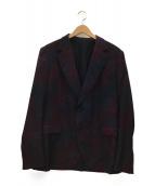 GUCCI(グッチ)の古着「フローラルプリントテーラードジャケット」 パープル