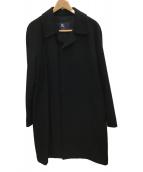 BURBERRY(バーバリー)の古着「カシミヤ混 比翼コート」|ブラック