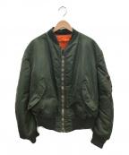 ALPHA INDUSTRIES(アルファインダストリーズ)の古着「MA-1ジャケット」|オリーブ
