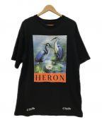 HERON PRESTON(ヘロンプレストン)の古着「Tシャツ」|ブラック