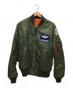 ALPHA()の古着「MA-1ジャケット」 カーキ