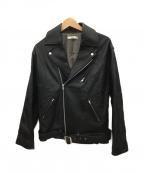 UNGRID(アングリッド)の古着「ライダースジャケット」|ブラック