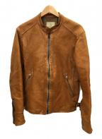 BEAUTY&YOUTH(ビューティアンドユース)の古着「レザージャケット」 キャメル