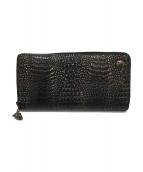 Roen(ロエン)の古着「クロコ型押し長財布」|ブラック系