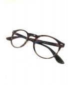 RAY-BAN(レイバン)の古着「伊達眼鏡」 ブラウン