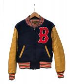 STYLE EYES(スタイルアイズ)の古着「アワードジャケット」|ネイビー×キャメル