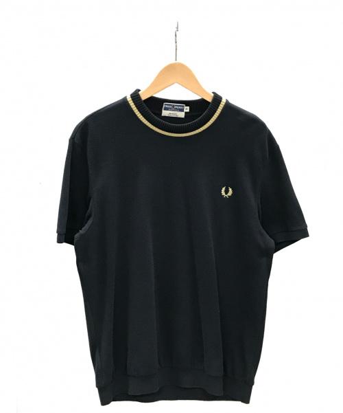 FRED PERRY(フレッドペリー)FRED PERRY (フレッドペリー) CREWNECKPIQUETEE ブラック サイズ:40 クルーネックピケティー Tシャツの古着・服飾アイテム