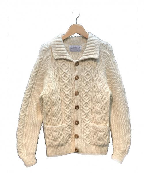 INVERALLAN(インバーアラン)INVERALLAN (インバーアラン) アランニットカーディガン アイボリー サイズ:実寸サイズをご確認ください。 秋冬物の古着・服飾アイテム