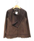axes femme(アクシーズファム)の古着「Aラインショートコート」|ブラウン