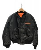 AVIREX(アビレックス)の古着「MA-1 フライトジャケット」 ブラック