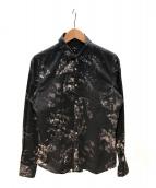 Paul Smith(ポールスミス)の古着「フラワーシャツ」|ブラック