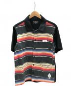 CRIMIE(クライミー)の古着「メキシカンボーダー シャツ」 ブラック