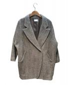 KBF(ケイビーエフ)の古着「ヘリンボーンワイドコート」|ブラウン